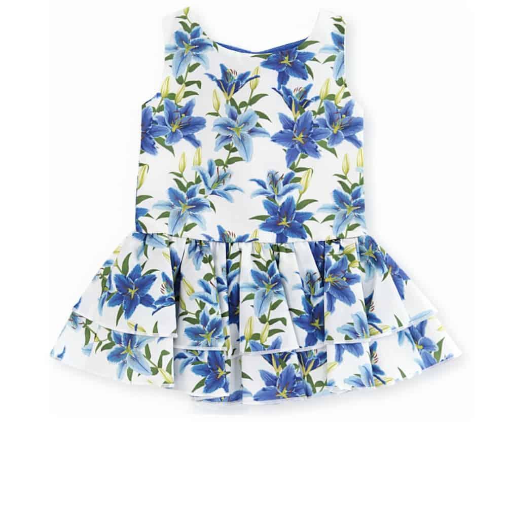 Vestido bebe azul estampado