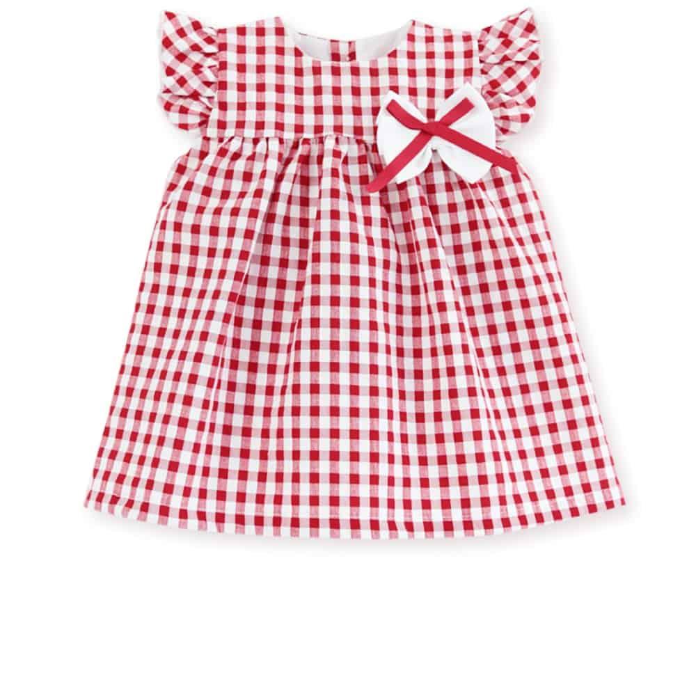 Vestido estampado bebe rojo