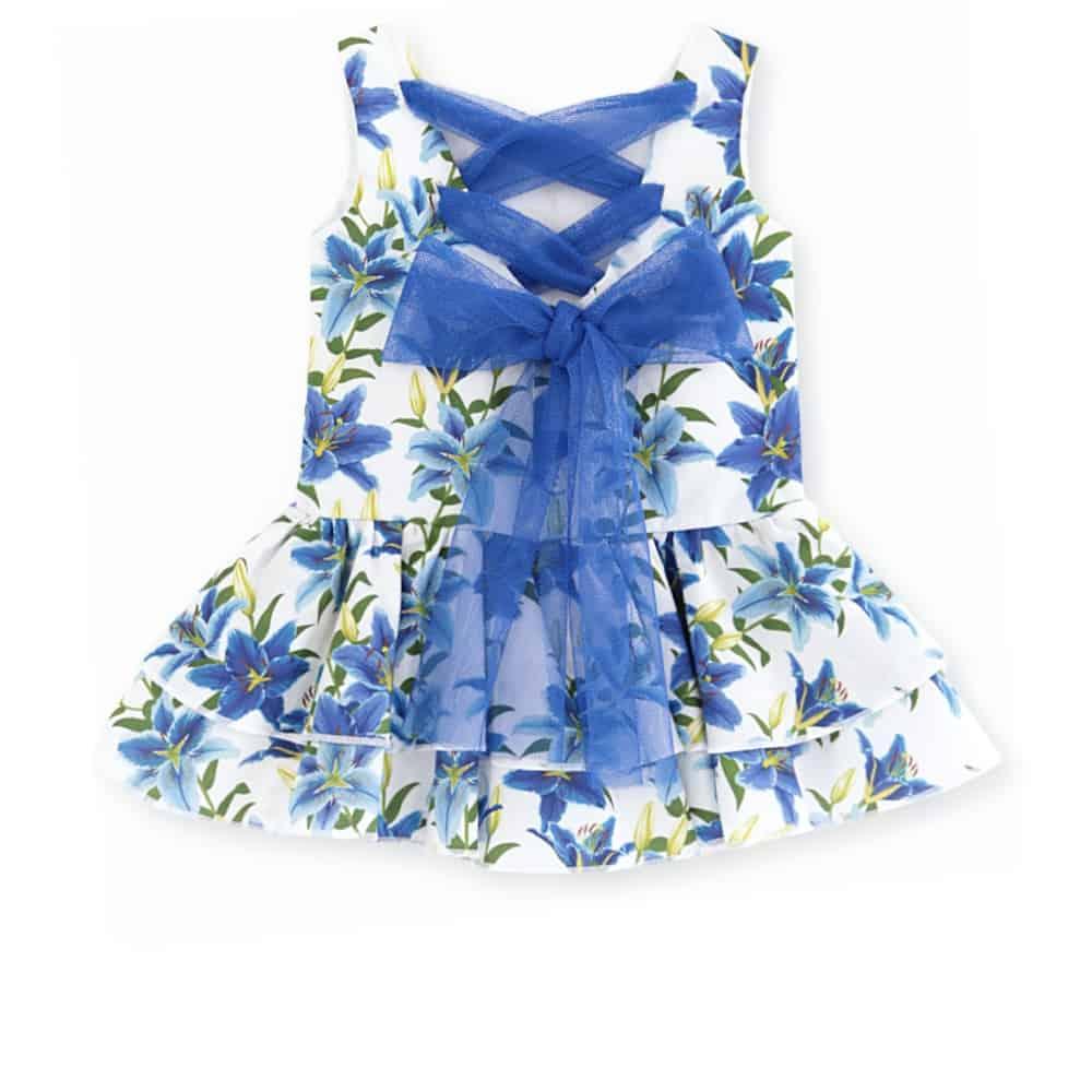 Vestido floral azul bebe